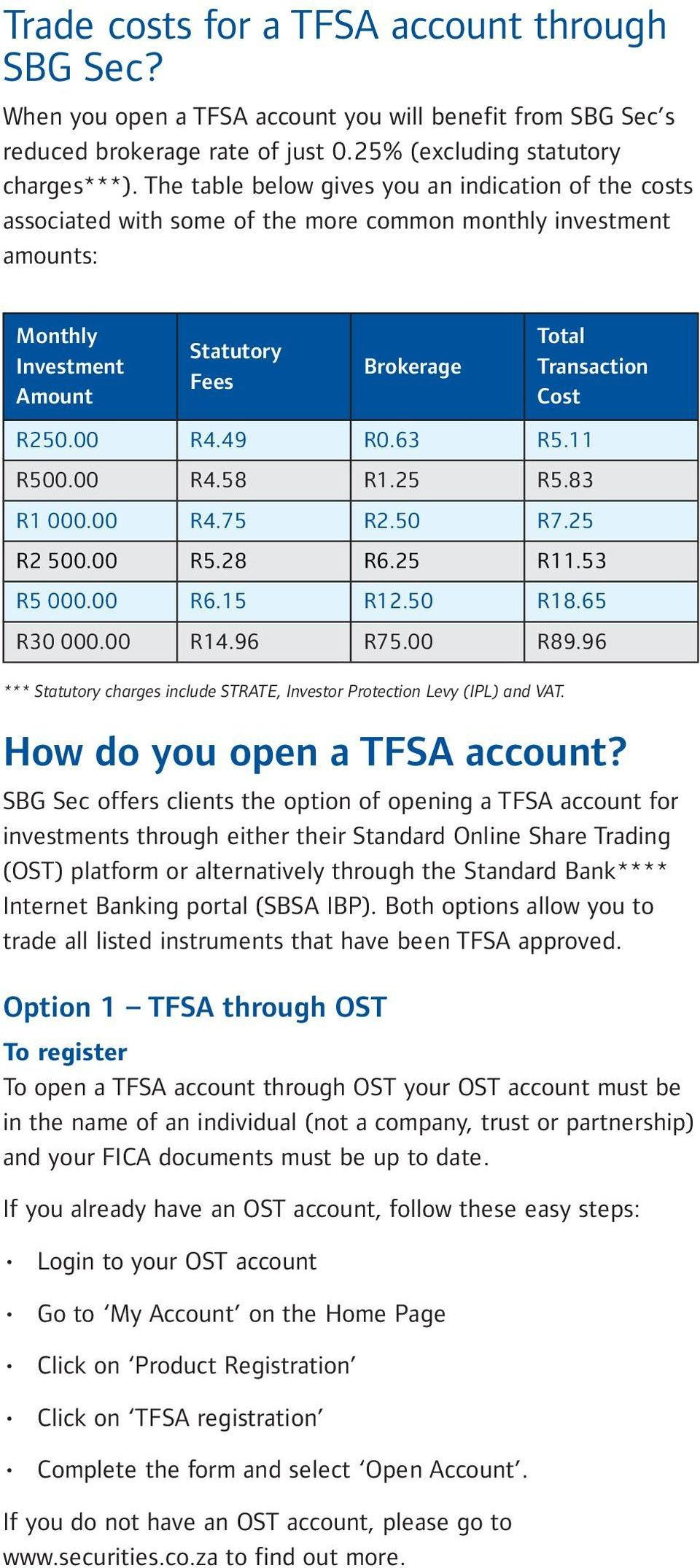 Invest on the JSE Tax Free!* Tax-Free Savings Account Provided  by