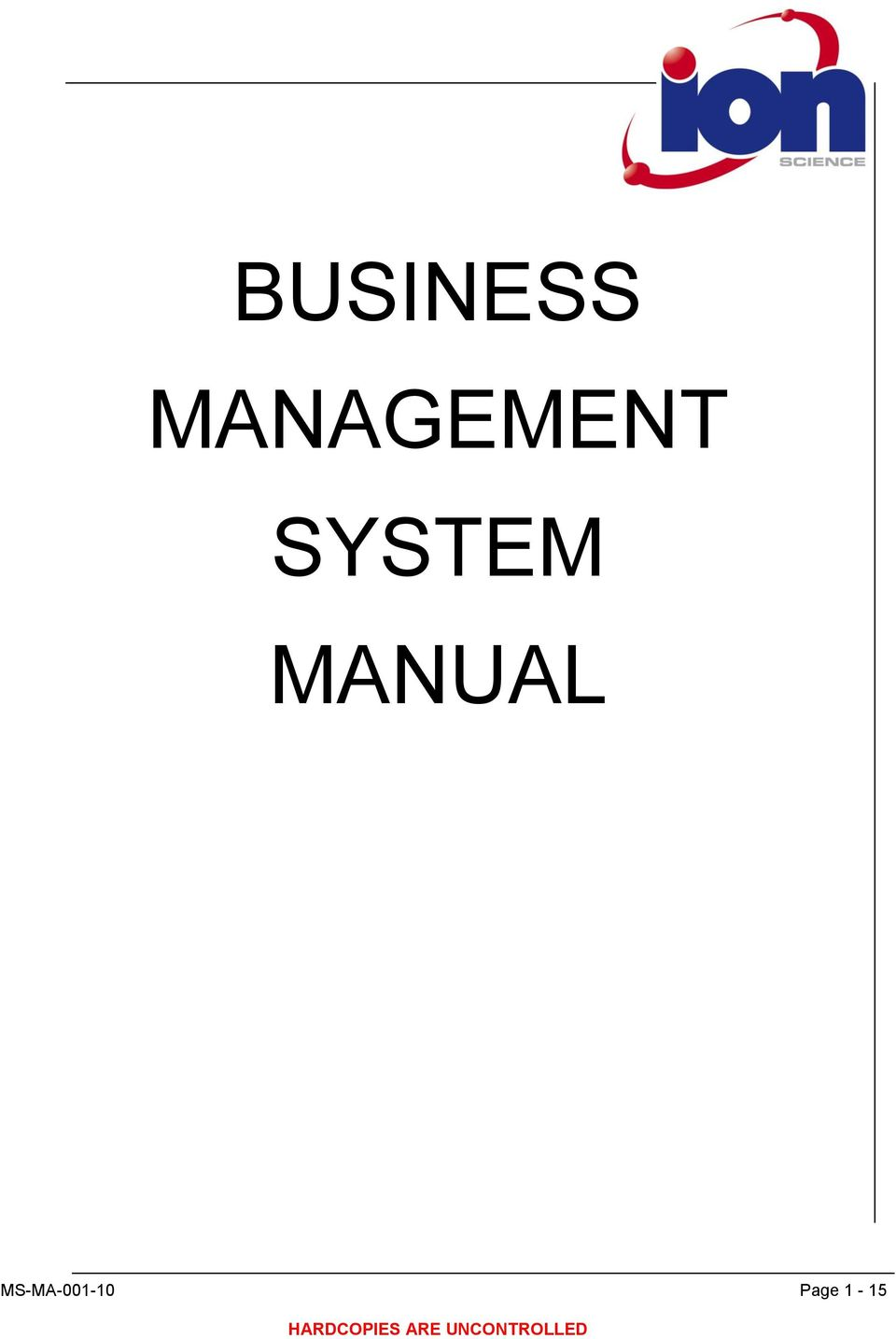 SYSTEM MANUAL