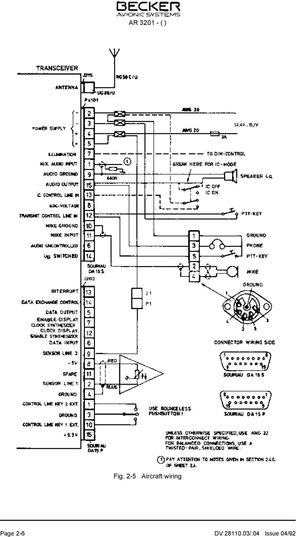 Ar Vhf Transceiver Installation And Operation Manual Dv Issue Mono To Stereo Mic Jack Wiring Diagram Also Val Speakers 2 6 With Speaker Junction 04 92 Page 7