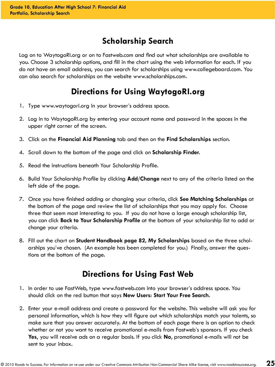 OBJECTIVES  The BIG Idea  How will I pay for college? - PDF