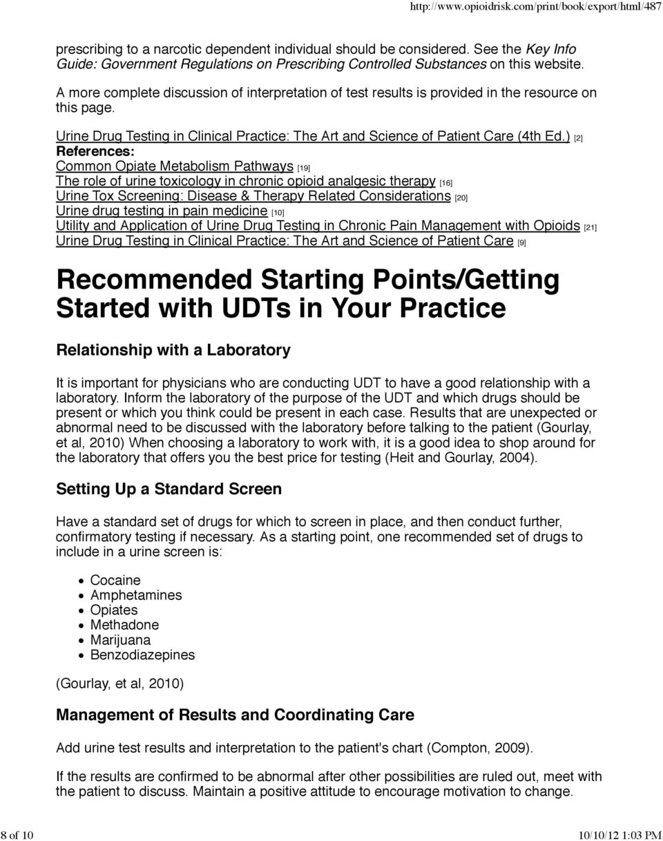 Appropriate Use of UDT to Improve Patient Care - PDF