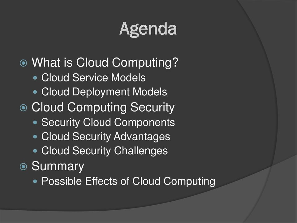 Computing Security Security Cloud Components Cloud
