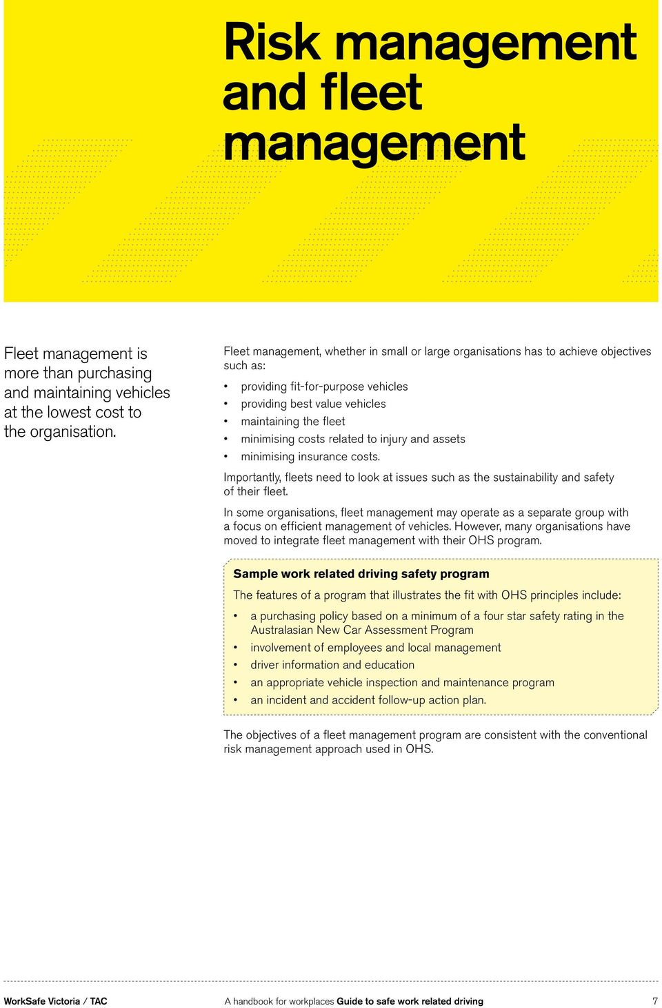 Guide to safe work related driving - PDF