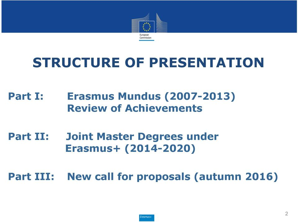 II: Joint Master Degrees under Erasmus+