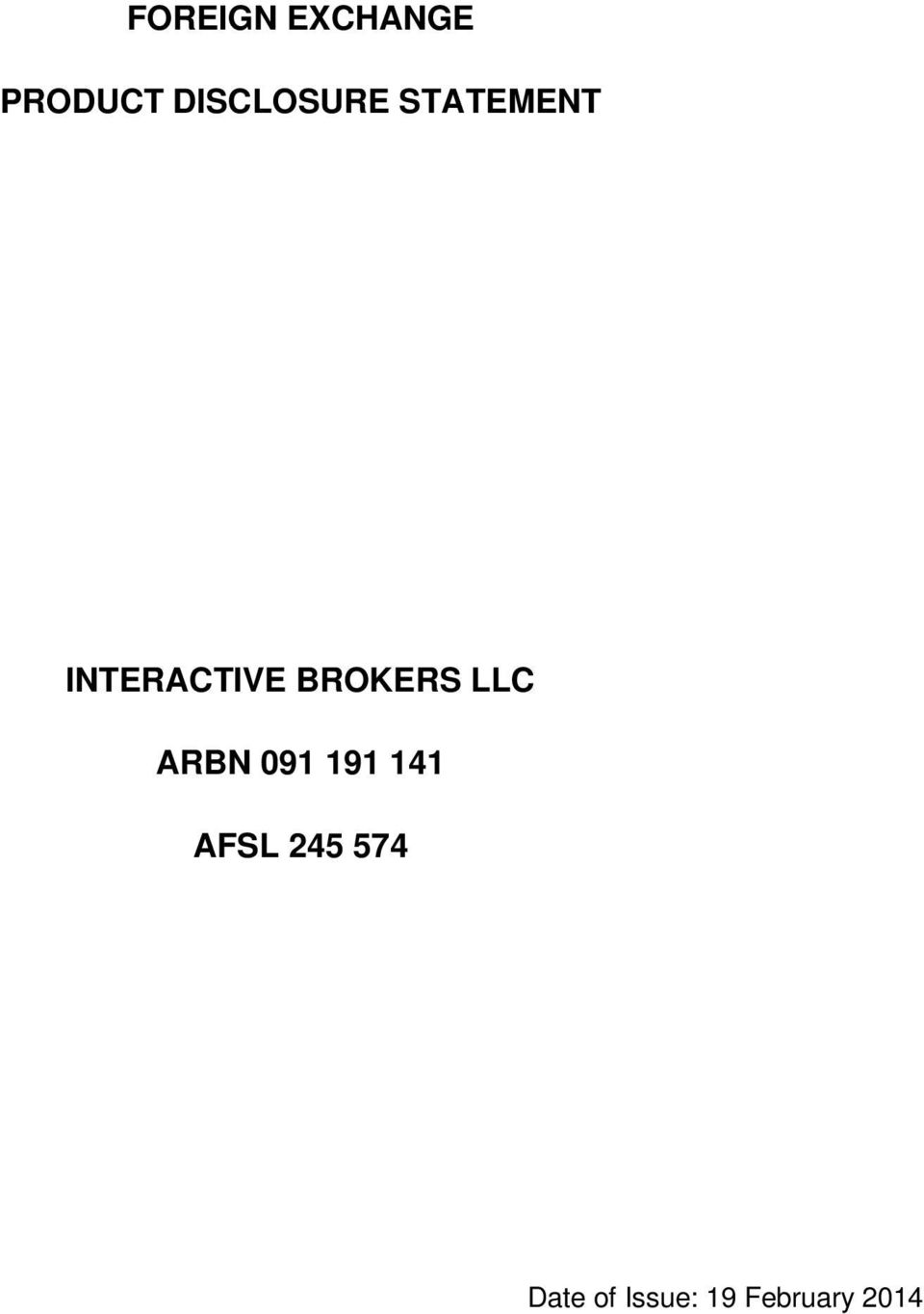 BROKERS LLC ARBN 091 191 141