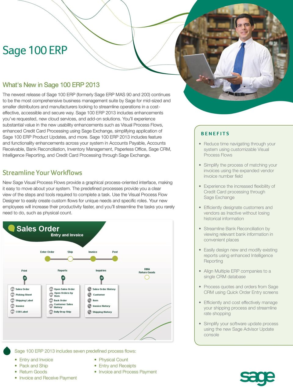 Sage 100 ERP 2013 includes enhancements you ve requested, new cloud services, and add-on solutions.