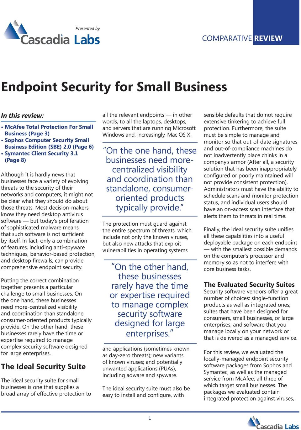 Endpoint Security for Small Business - PDF