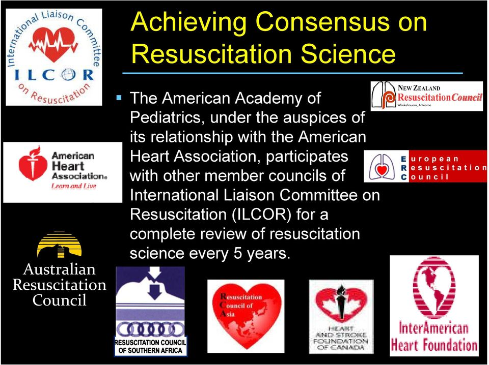 American Heart Association, participates with other member councils of International