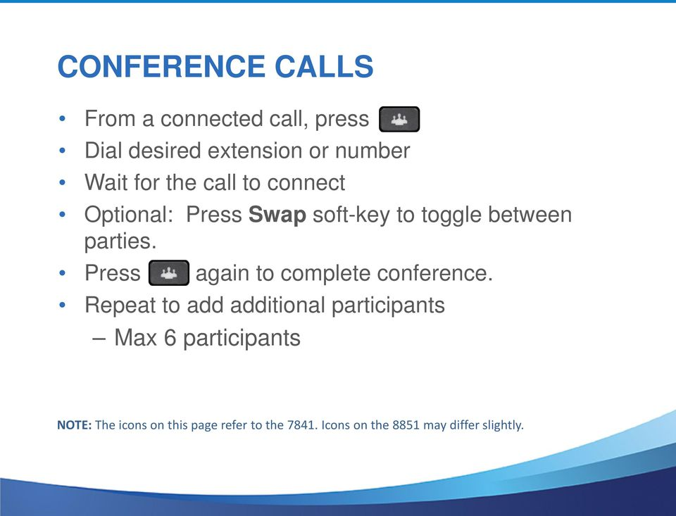 Press again to complete conference.
