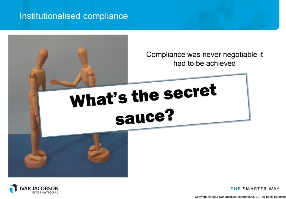 Compliance was never