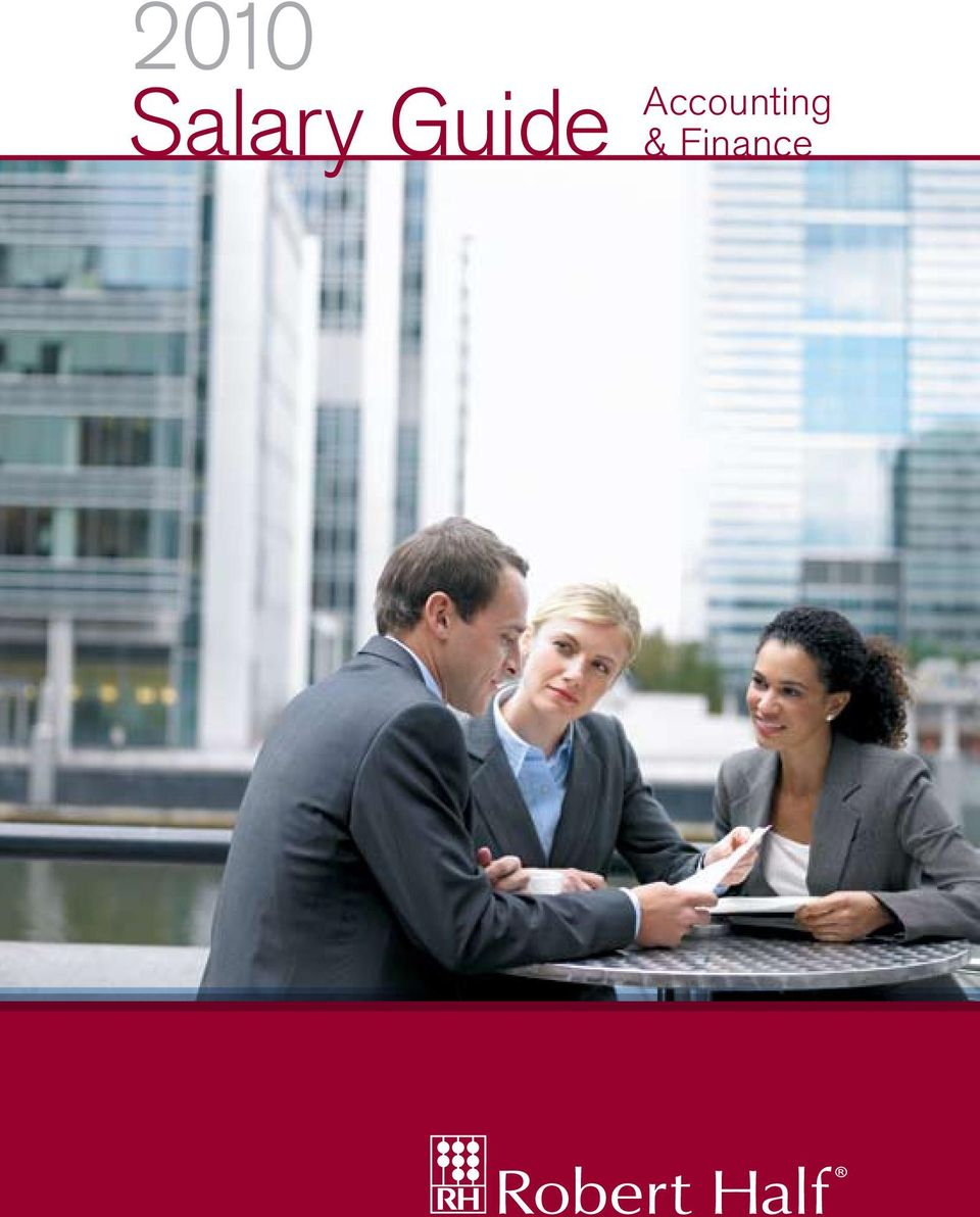 2010 Salary Guide Accounting  & Finance - PDF