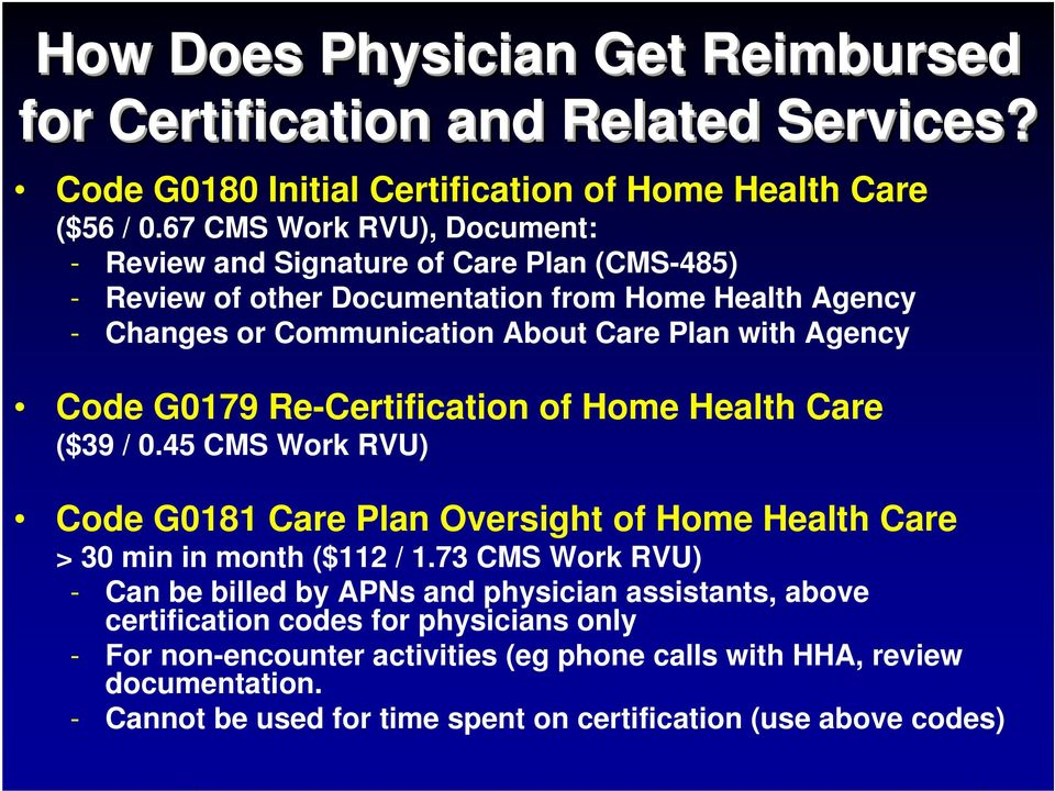 Physician Guide To Home Health Care Certification For Medicare
