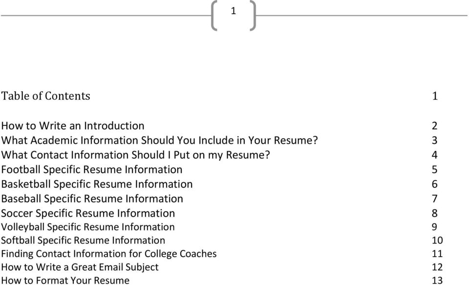 How To Create A College Recruiting Resume PDF
