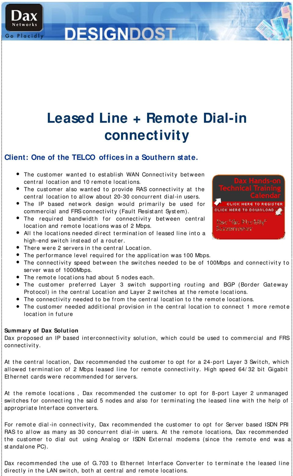 Leased Line Remote Dial In Connectivity Pdf Switch Design Review Help Lan Switching And Routing Cisco The Ip Based Network Would Primarily Be Used For Commercial Frs Fault