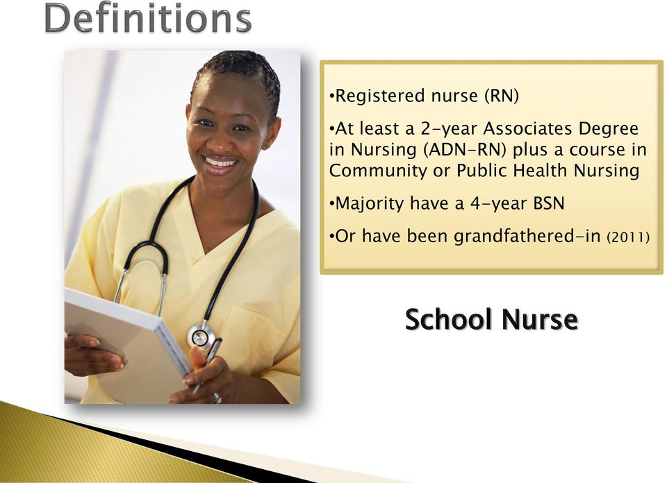 Community or Public Health Nursing Majority have a