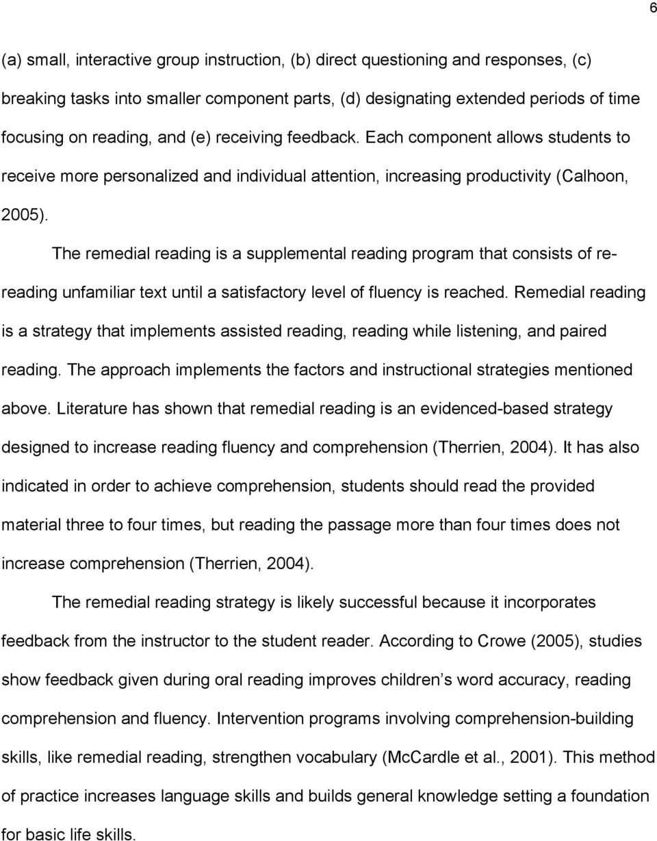 Improving Reading Fluency And Comprehension Among Elementary