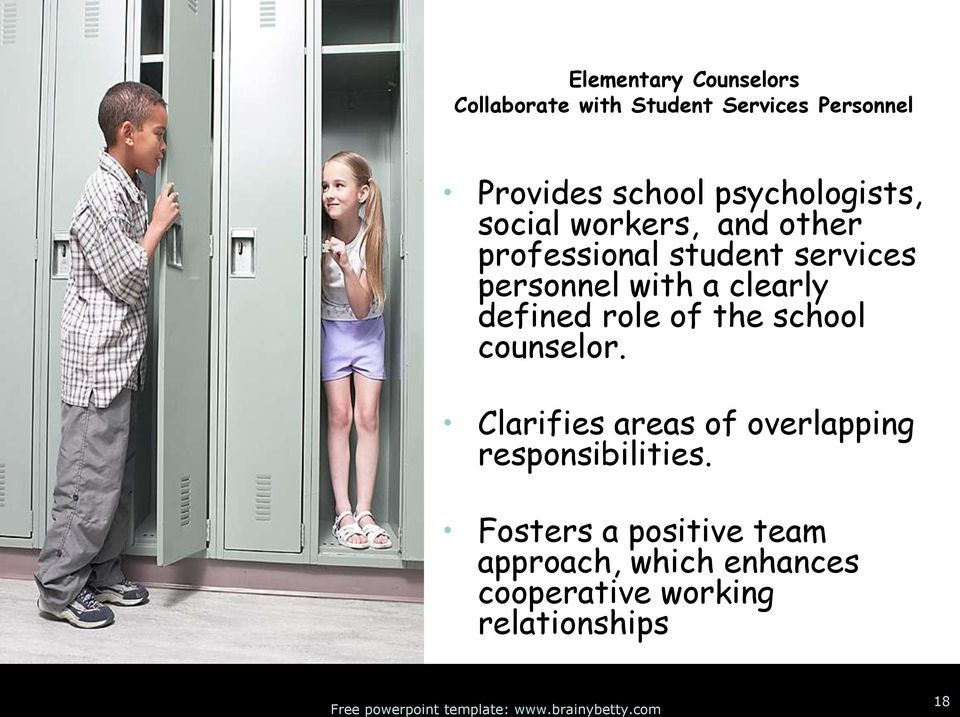 clearly defined role of the school counselor.
