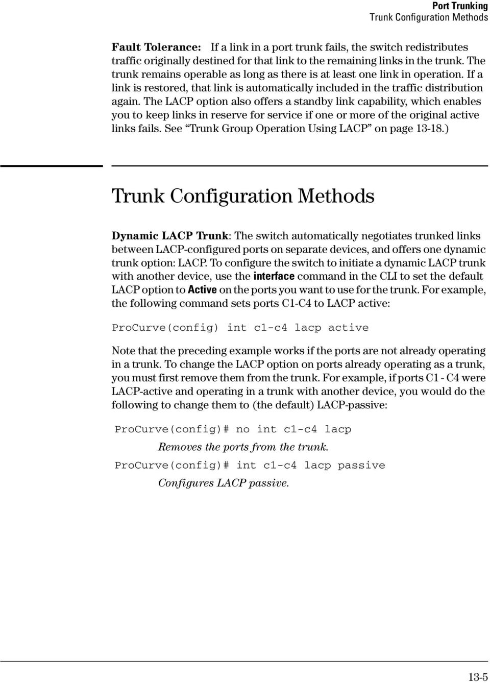 Port Trunking  Contents - PDF