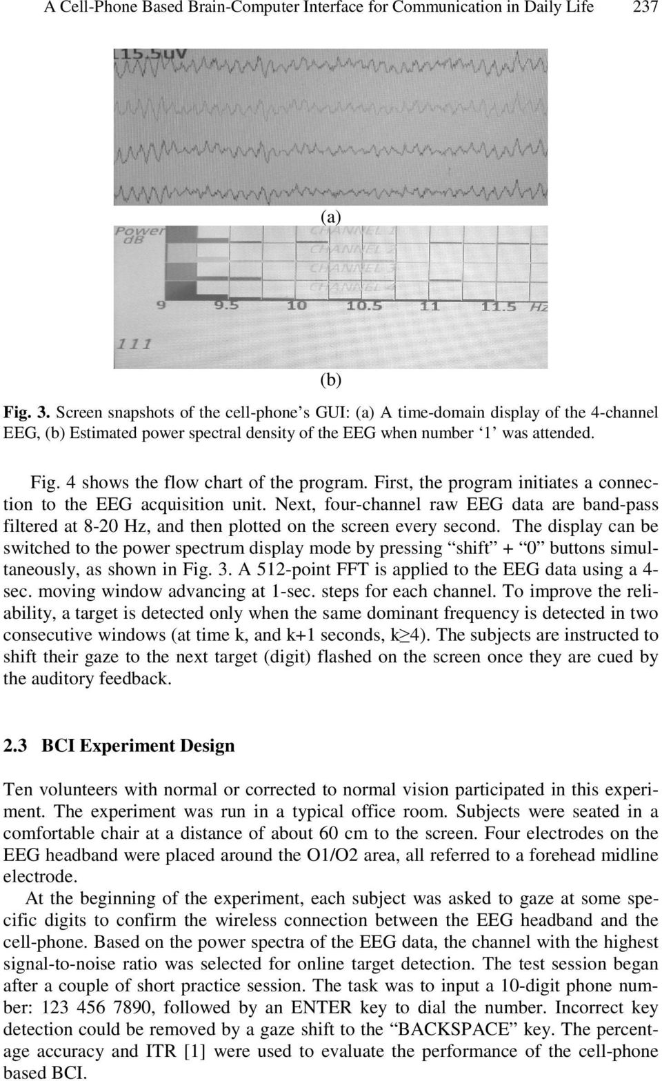 A Cell-Phone Based Brain-Computer Interface for