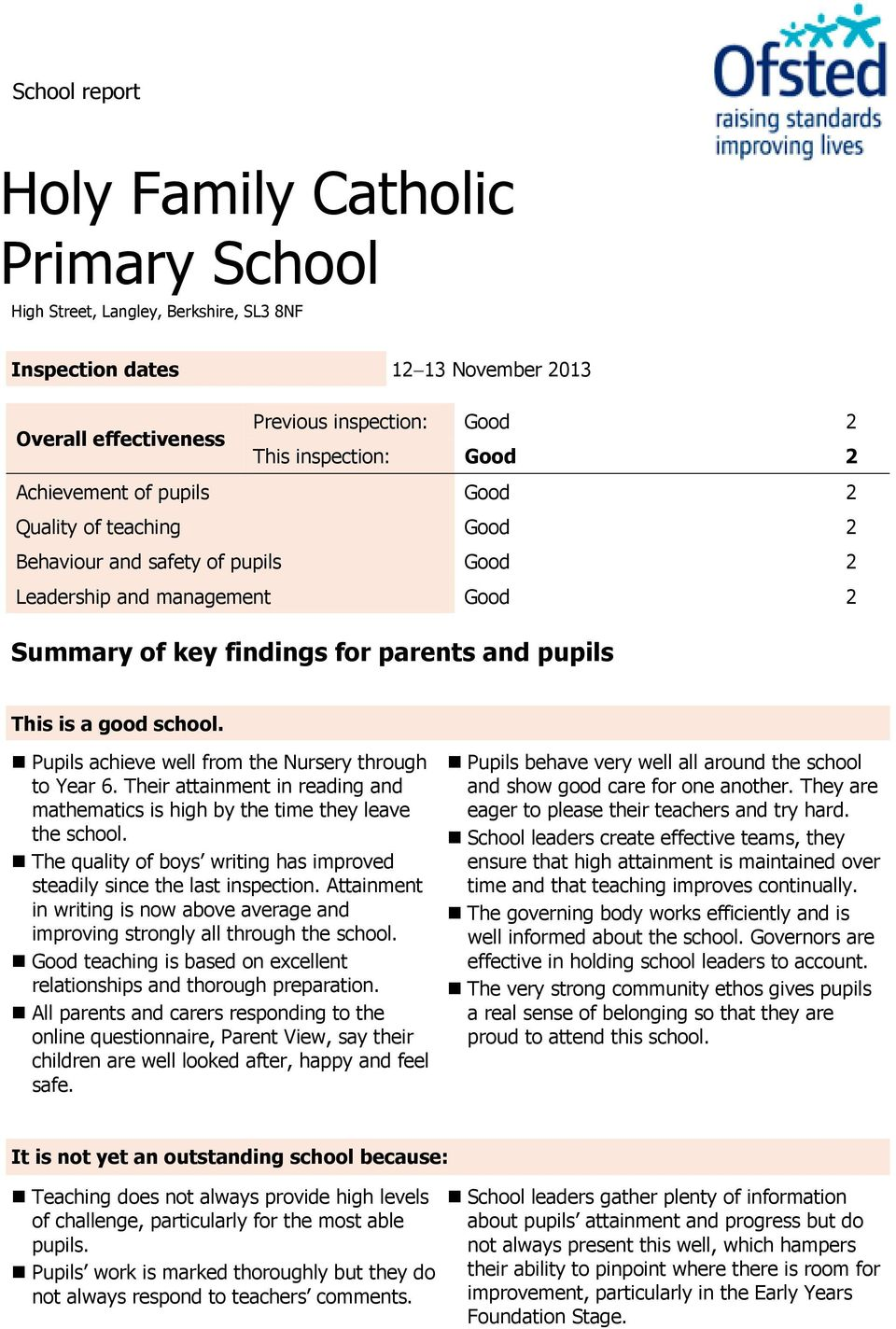 Pupils achieve well from the Nursery through to Year 6. Their attainment in reading and mathematics is high by the time they leave the school.