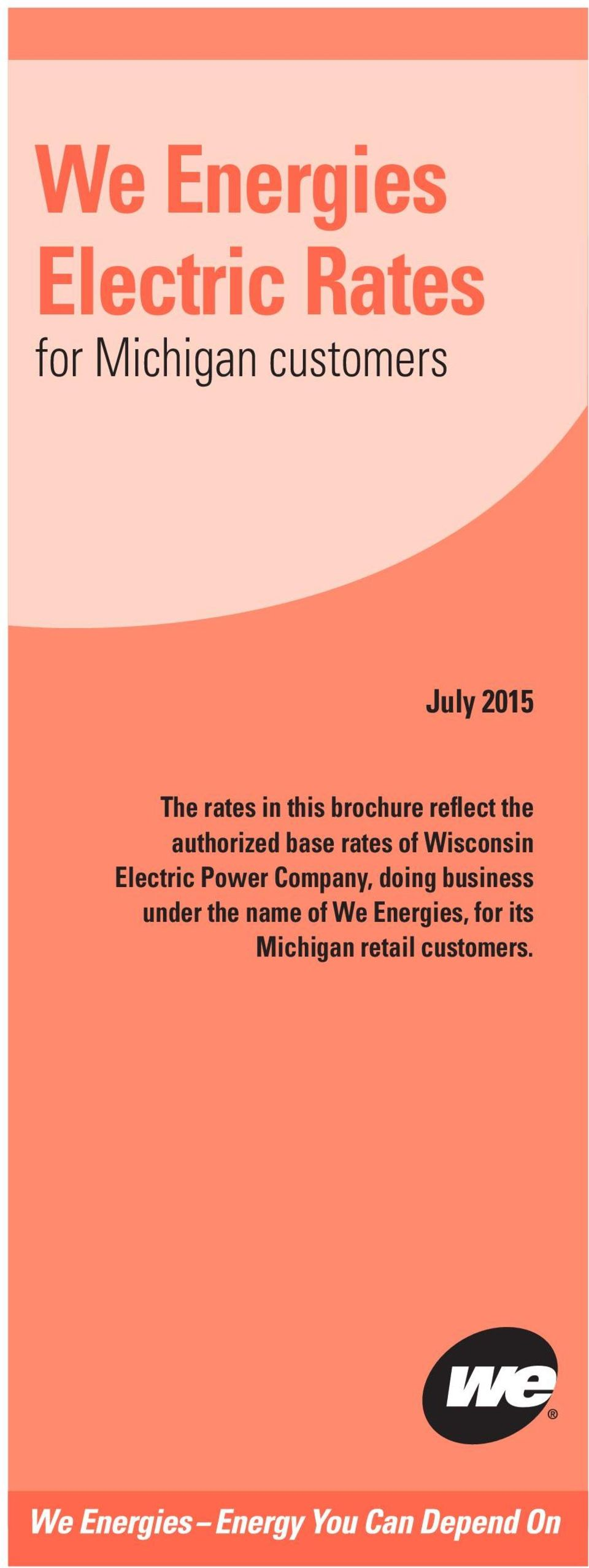 rates of Wisconsin Electric Power Company, doing business