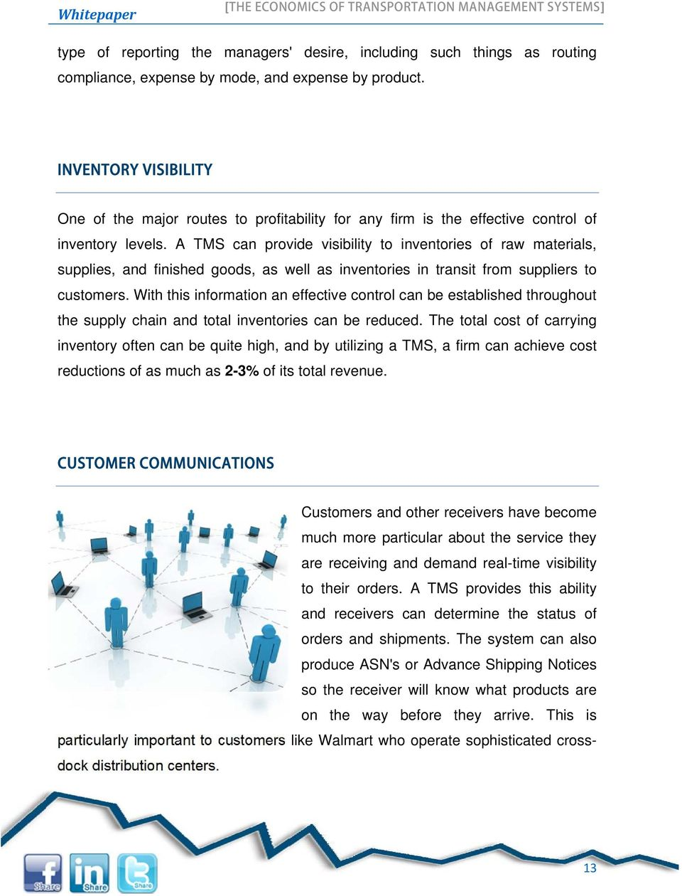 Whitepaper 2014 THE ECONOMICS OF TRANSPORTATION MANAGEMENT SYSTEMS 1