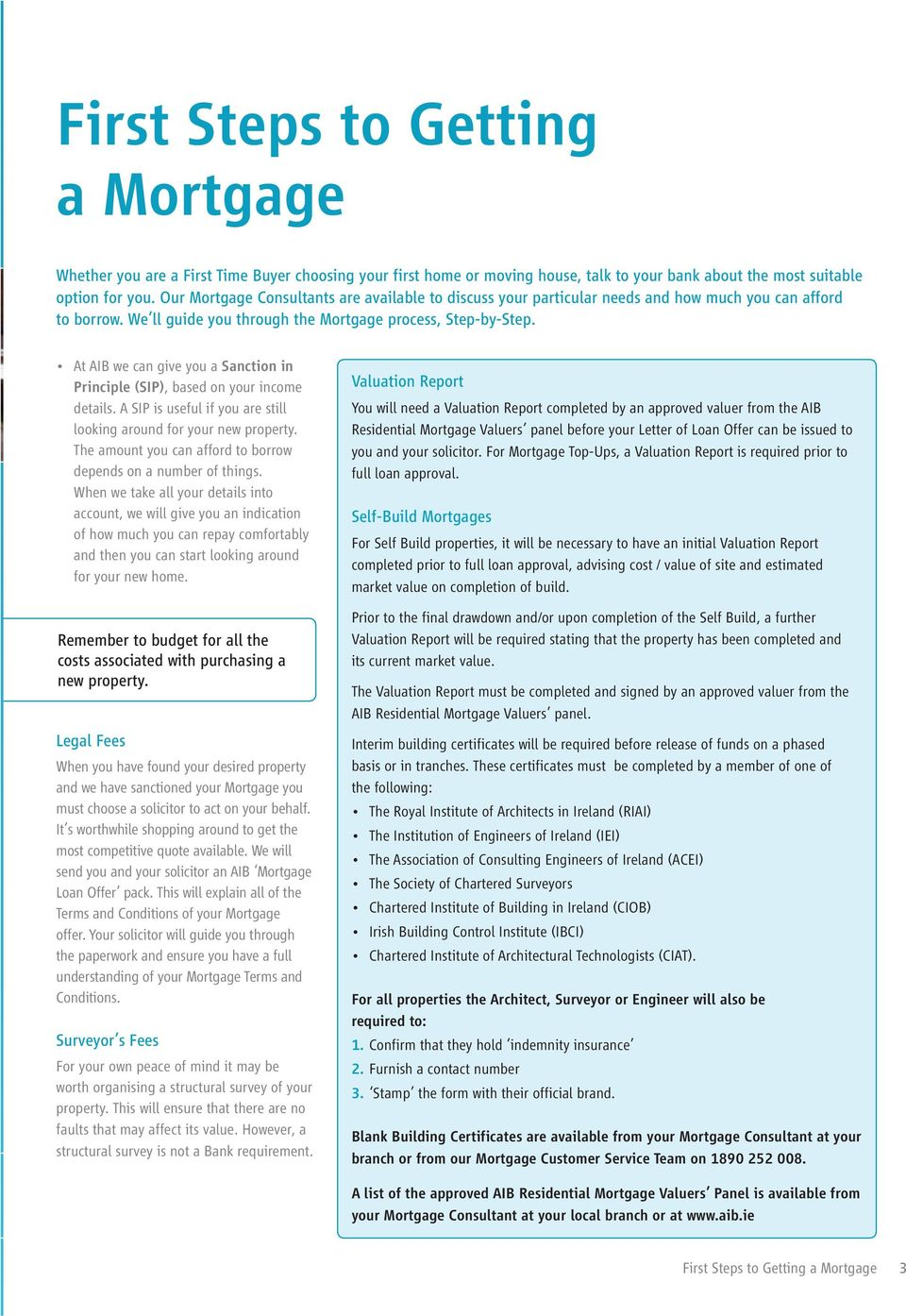 First Steps to Getting a Mortgage for Owner Occupiers - PDF