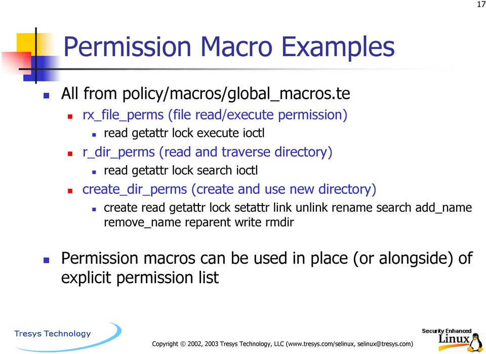 Object Classes and Permissions - PDF