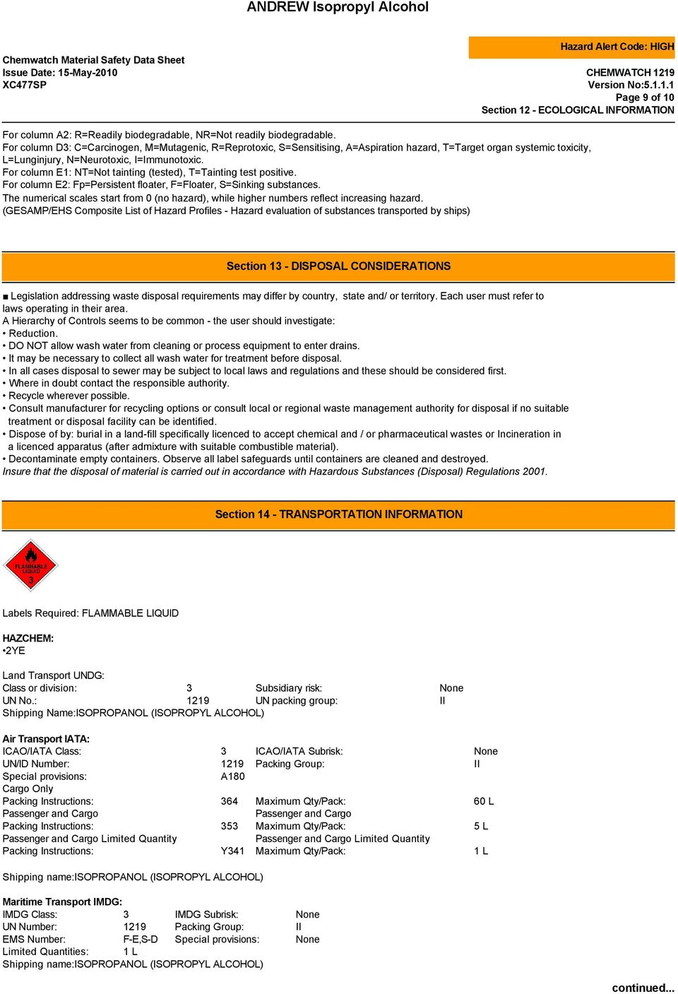 Andrew Isopropyl Alcohol Pdf Free Download