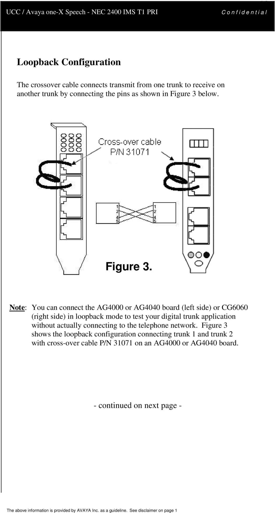 Nec 2400 Ims T1 Pri Pdf The Above Diagram Shows An Ethernet Crossover Cable Pin Out For Figure 3