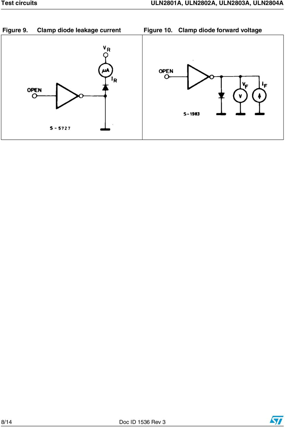 Uln2801a Uln2802a Uln2803a Uln2804a Pdf Bta41 600b Datasheet Application Note Electronic Circuit Projects Clamp Diode Leakage Current Figure 10