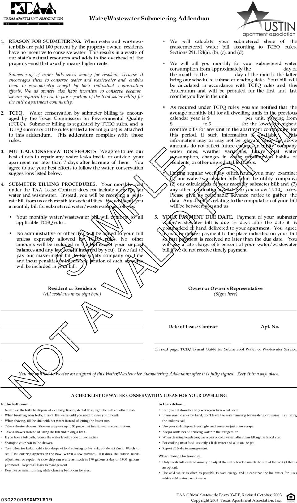 This Lease Contract Is Only Valid If Filled Out Before