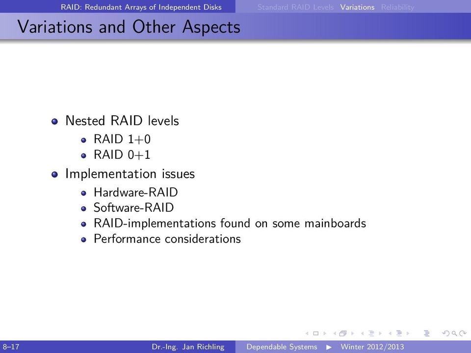 RAID-implementations found on some mainboards Performance