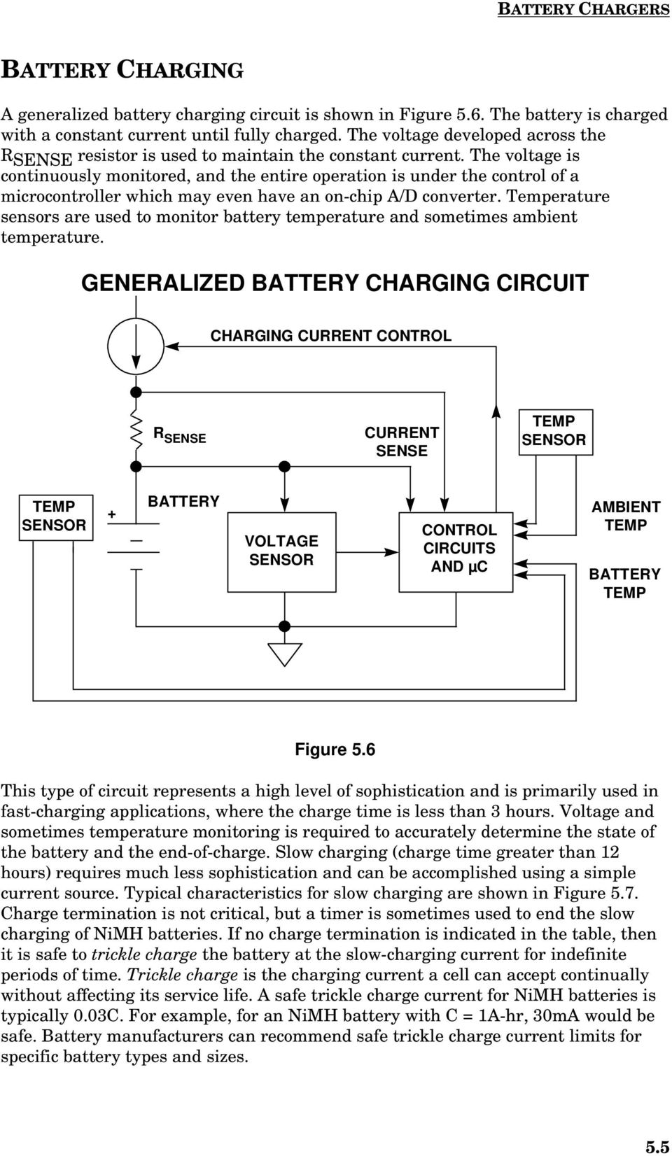 Rechargeable Battery Considerations In Portable Equipment Pdf Batterychargercontroller Controlcircuit Circuit Diagram The Voltage Is Continuously Monitored And Entire Operation Under Control Of A