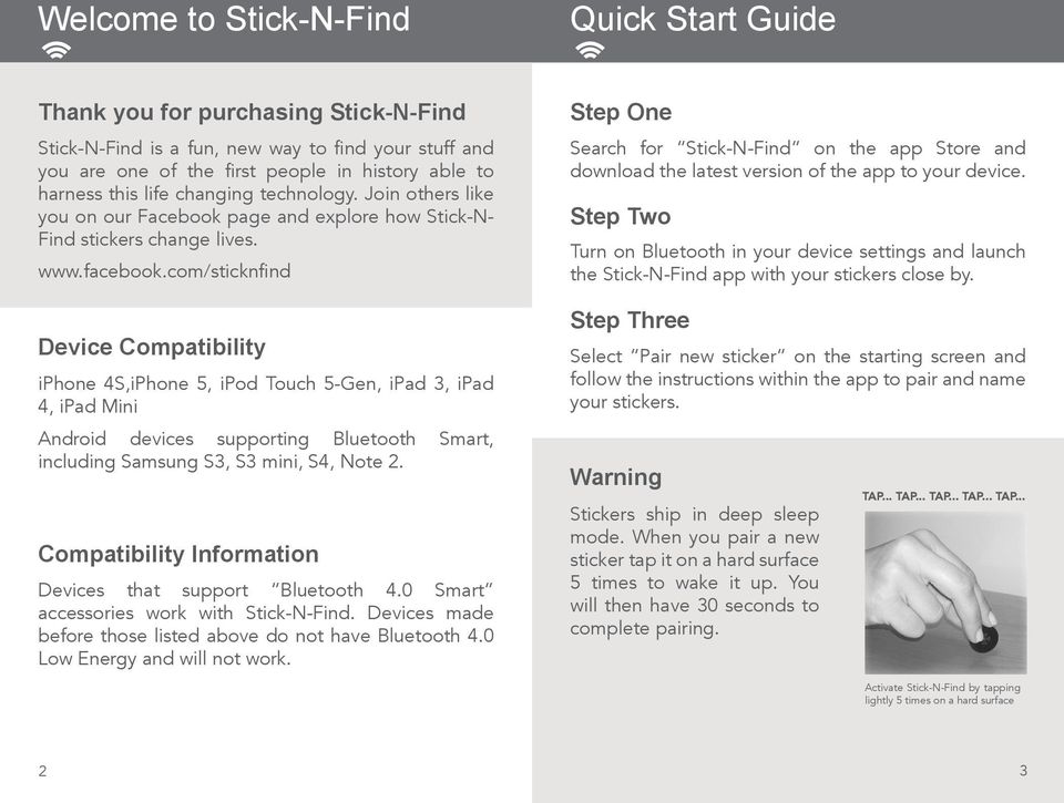 Instructions stick-n-find stickers pdf free download.