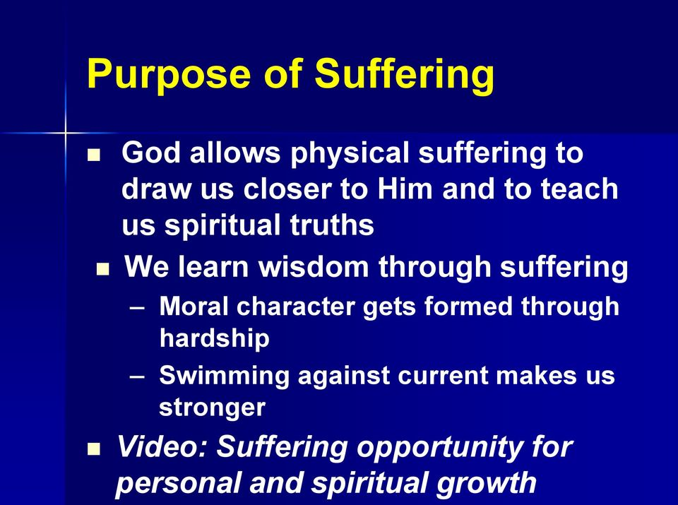 Moral character gets formed through hardship Swimming against current