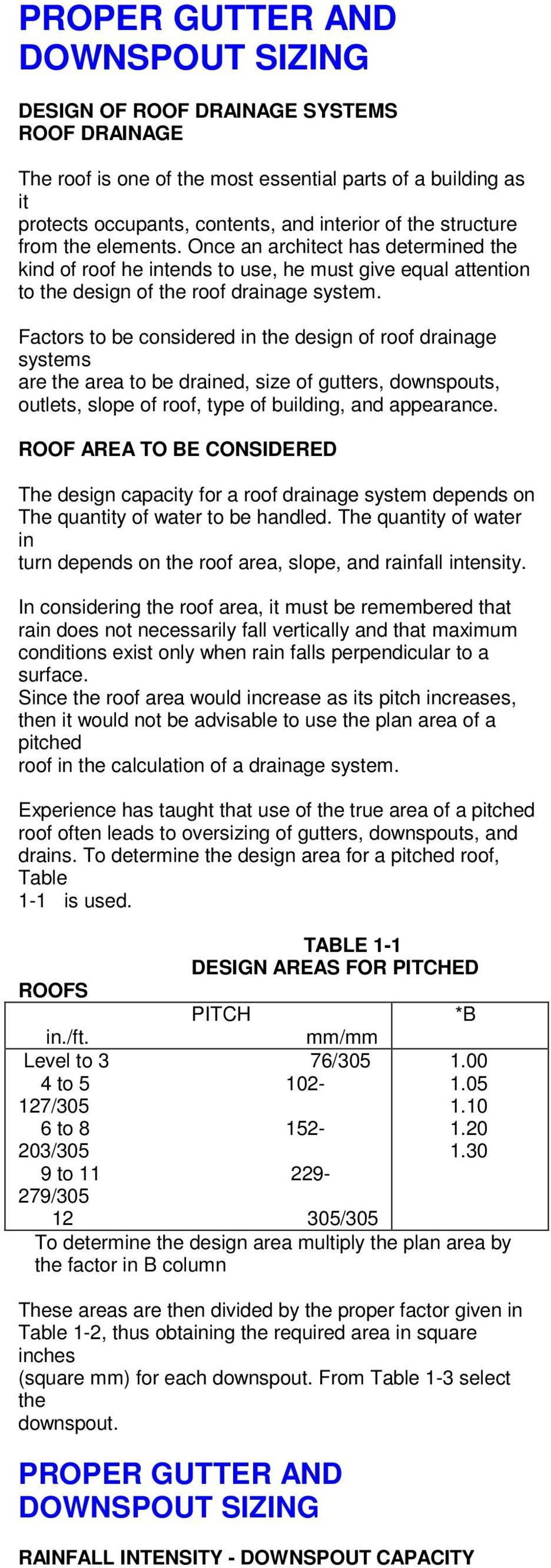 Proper Gutter And Downspout Sizing Pdf
