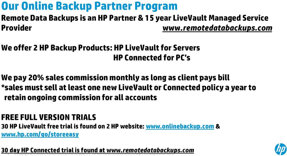 All HP Solutions: HP Storage & HP Backup - PDF