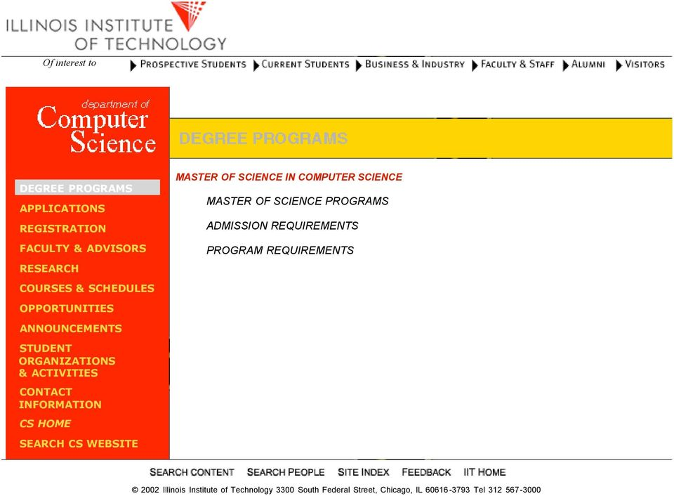 SCIENCE PROGRAMS ADMISSION