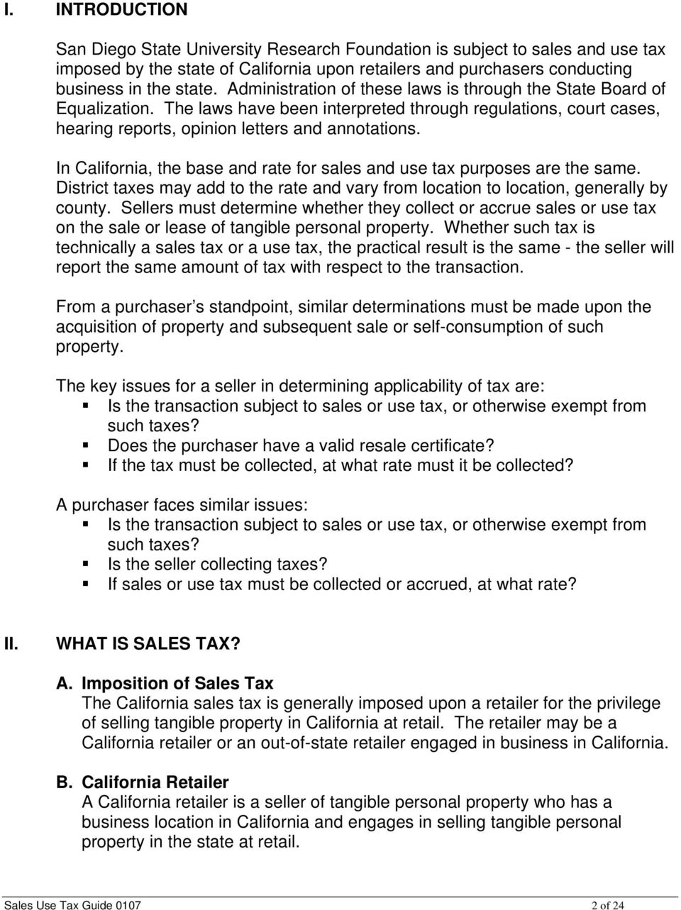 SALES AND USE TAX GUIDE - PDF