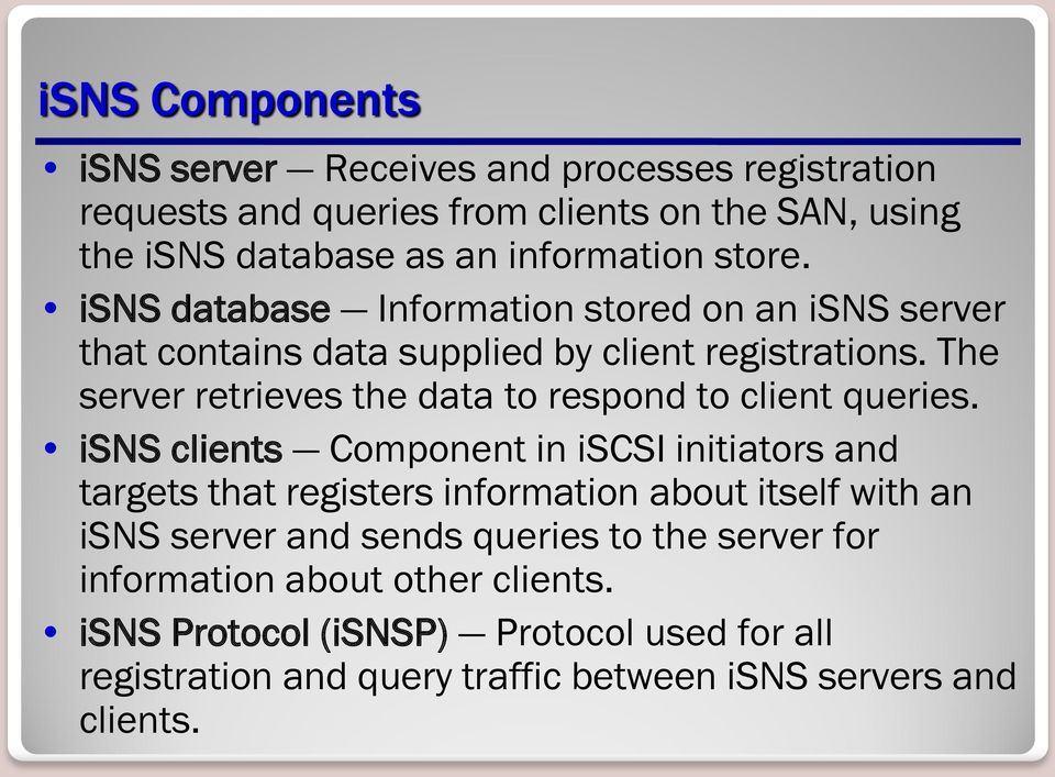 The server retrieves the data to respond to client queries.