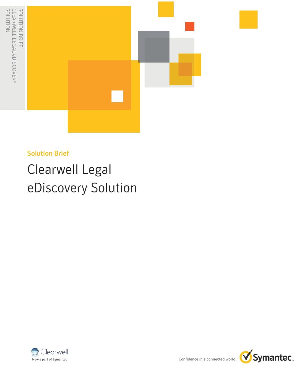 Solution Brief Clearwell