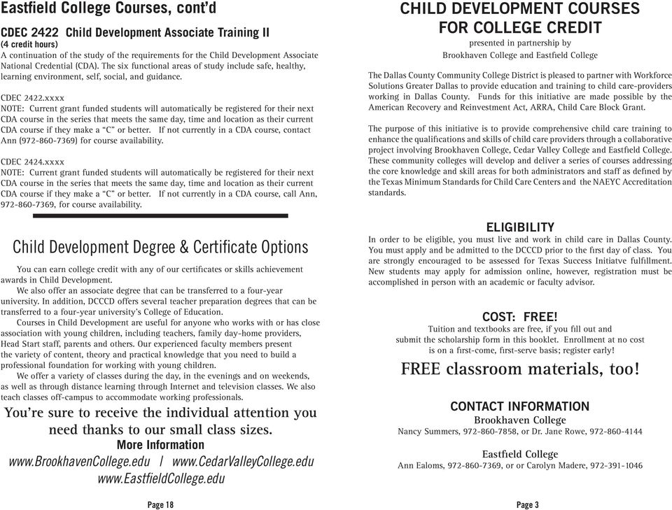 all courses are for college credit! -