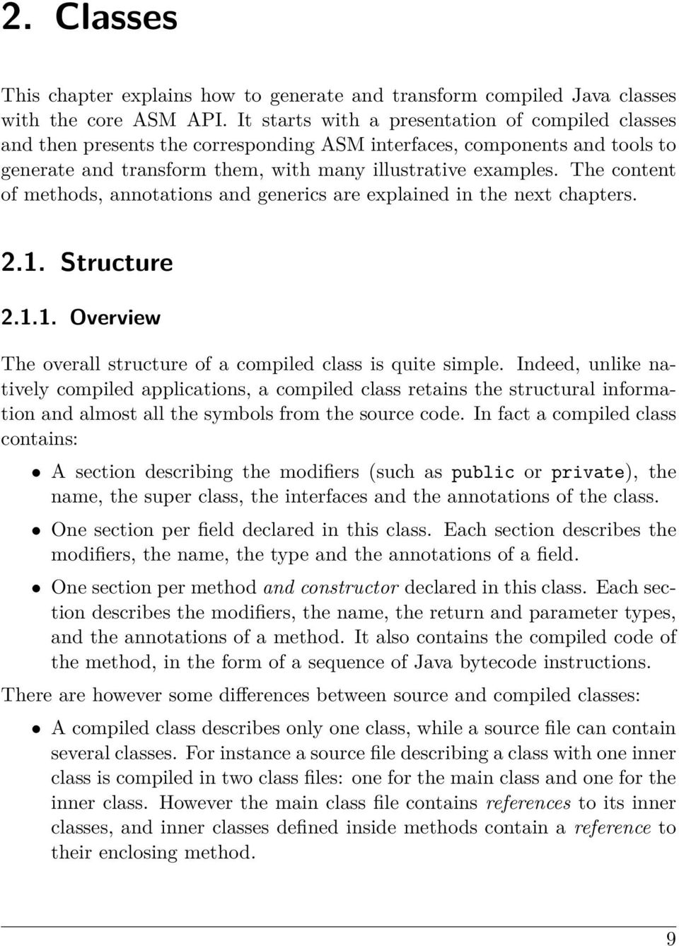 interface org.objectweb.asm.classvisitor as super class
