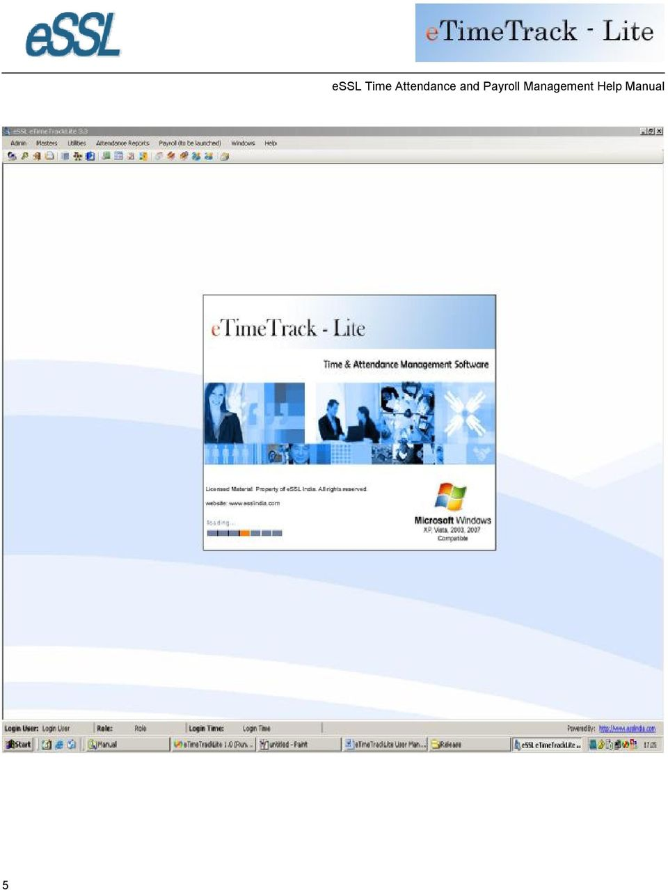 essl Time Attendance and Payroll Management Help Manual Help Manual