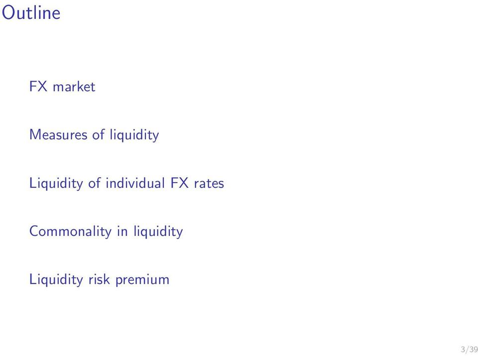 individual FX rates Commonality