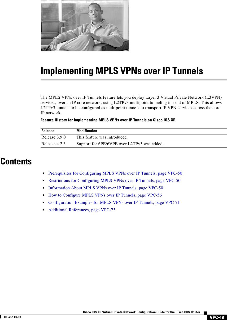 Implementing MPLS VPNs over IP Tunnels - PDF