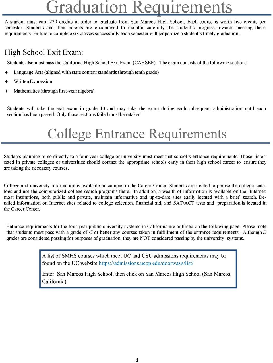 91eacb0c21f9 Failure to complete six classes successfully each semester will jeopardize a  student s timely graduation.
