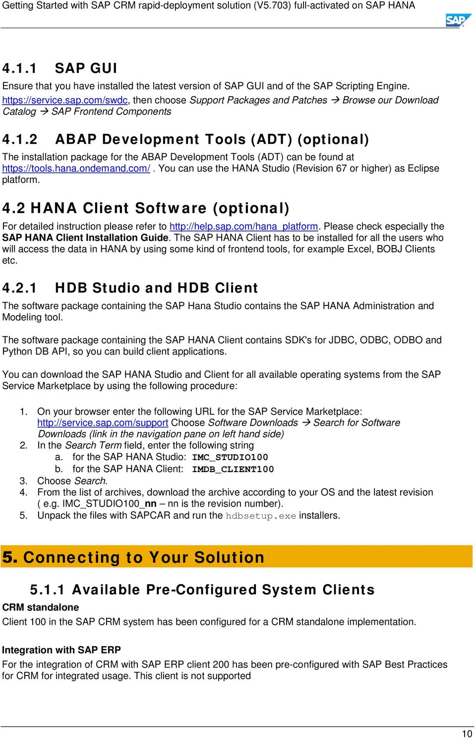Getting Started with  SAP CRM rapid-deployment solution (V5