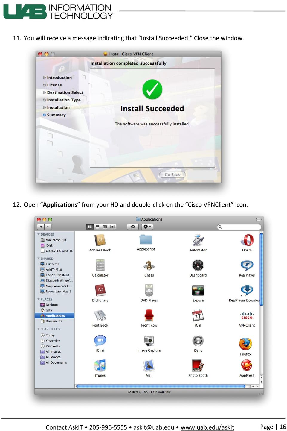 12. Open Applications from your HD and